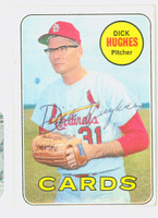Dick Hughes AUTOGRAPH 1969 Topps #39 Cardinals CARD IS VG; CRN WEAR, AUTO CLEAN