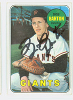 Bob Barton AUTOGRAPH 1969 Topps #41 Giants CARD IS CLEAN VG/EX