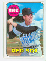 Mike Andrews AUTOGRAPH 1969 Topps #52 Red Sox CARD IS VG; CRN WEAR, O/C, AUTO CLEAN  [SKU:AndrM965_T69BBCC]