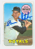 Steve Whitaker AUTOGRAPH 1969 Topps #71 Royals CARD IS G/VG; SURF WEAR, CRN WEAR, AUTO CLEAN  [SKU:WhitS1276_T69BBCC]