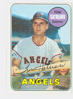 Tom Satriano AUTOGRAPH 1969 Topps #78 Angels CARD IS CLEAN VG/EX  [SKU:SatrT1646_T69BBCC]
