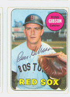 Russ Gibson AUTOGRAPH d.08 1969 Topps #89 Red Sox CARD IS G/VG; CRN CREASE, AUTO CLEAN  [SKU:GibsR931_T69BBCC]