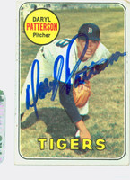 Daryl Patterson AUTOGRAPH 1969 Topps #101 Tigers CARD IS F/G; CRN TIP MISSING, AUTO CLEAN  [SKU:PattD1656_T69BBCC]