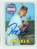 Roger Repoz AUTOGRAPH 1969 Topps #103 Angels CARD IS VG; CRN WEAR, AUTO CLEAN  [SKU:RepoR1385_T69BBCC]