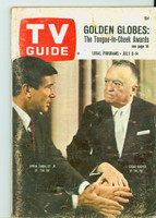 1967 TV Guide Jul 8 The FBI Montana edition Good to Very Good - No Mailing Label  [Heavy scuffing and creasing on cover, contents fine]