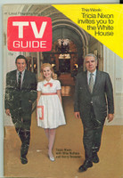 1970 TV Guide May 23 60 Minutes with Tricia Nixon Wisconson edition Very Good - No Mailing Label  [Scuffing along binding, lt creasing, staple rust, contents fine]