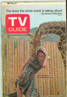 1970 TV Guide May 30 Julie Sommars of Governor and JJ Western Illinois edition Very Good - No Mailing Label  [Wear on cover and binding, contents fine]