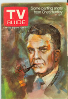 1970 TV Guide August 1 Chet Huntley Western Illinois edition Very Good - No Mailing Label  [Very loose at the staples, heavy creasing on cover; contents fine]