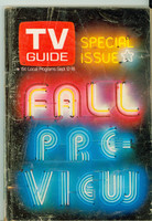 1970 TV Guide Sep 12 Fall Preview Eastern Illinois edition Very Good to Excellent - No Mailing Label  [Sl bend along binding, scuffing and wear on cover; contents fine]
