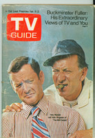 1971 TV Guide February 6 The Odd Couple: Tony Randall and Jack Klugman (First Cover) Cleveland edition Fair to Good - No Mailing Label  [Mositure on cover, creasing and wear on binding; contents fine]