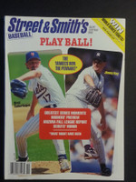 1995 Street and Smith BB Yearbook Saberhagen (Mets) - Key (Yankees) Near-Mint to Mint