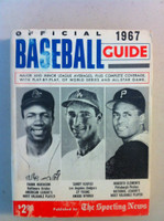 1967 TSN Official Baseball Guide (482 pg) - Cover: Frank Robinson, Sandy Koufax, Roberto Clemente Very Good [Wear on both covers, contents fine]