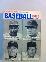 1968 TSN Official Baseball Guide (530 pg) - Cover: Orlando Cepeda, Carl Yastrzemski, Mike McCormick, Jim Lonborg Very Good [Wear on both covers, contents fine]