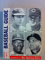 1971 TSN Official Baseball Guide (614 pg) - Cover: Johnny Bench, Sam McDowell, Bob Gibson, Harmon Killebrew Excellent [Very sl cover wear, contents great]