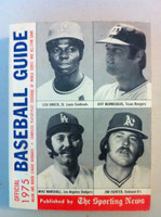1975 TSN Official Baseball Guide (576 pg) - Cover: Brock, Burroughs, Marshall, Hunter Excellent [Lt wear on cover, contents great]