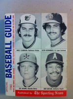 1980 TSN Official Baseball Guide (594 pg) - Cover: Flanagan, Niekro, Hernandez, Baylor Excellent [Lt wear on cover, contents great]