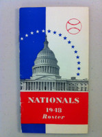 1948 Washington Senators Roster / Media Guide (20 pg) Excellent [Player Bios, Schedule - sl wear around staples]