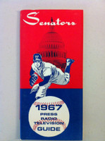 1967 Washington Senators Media Guide (54 pg) Near-Mint [Sl wear on cover, ow like new]