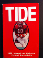 1979 Alabama Crimson Tide Media Guide (148 pg) Steadman Shealy Cover NATIONAL CHAMPIONS Excellent