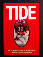 1979 Alabama Crimson Tide Media Guide (148 pg) Steadman Shealy Cover NATIONAL CHAMPIONS Near-Mint