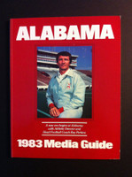 1983 Alabama Crimson Tide Media Guide Ray Perkins Cover Near-Mint