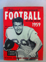 1959 Official Collegiate Football Record Book (192 pg) (Billy Cannon, LSU on cover) Very Good [Minor soiling on top of cover, spine, contents fine]