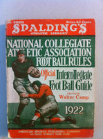 1922 Official NCAA Football Guide (309 pg) Good [Moderate spine wear, contents fine]