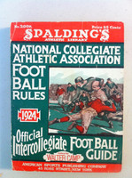 1924 Official NCAA Football Guide (309 pg) Very Good [Crease on cover, spine and contents fine]