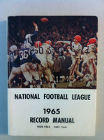 NFL 1965 Record Manual (Cleveland Browns vs Colts on cover) - tape on reverse cover Very Good [Lt wear on cover, piece of tape on reverse cover; contents fine]
