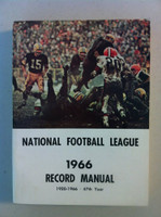 NFL 1966 Record Manual (Bart Starr of GB Packers on cover) Excellent to Mint [Lt wear on cover, contents great]