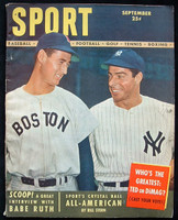 1948 Sport Magazine Joe DiMaggio - Ted Williams Excellent