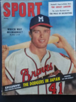 1957 Sport Magazine April Eddie Mathews Very Good