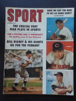 1959 Sport Magazine August Mickey Mantle - Willie Mays - Eddie Mathews - Rocky Colavito Very Good