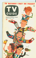 1953 TV Guide Apr 17 TV Ratings (Milton Berle, Godfrey, Lucy, Caesar) NY Metro edition Excellent - No Mailing Label  [Lt staining, toning on rev cover, ow very clean example]