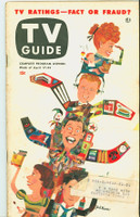 1953 TV Guide Apr 17 TV Ratings (Milton Berle, Godfrey, Lucy, Caesar) NY Metro edition Very Good  [Heavy toning and spotting on cover and along binding; wear on both covers, contents fine]