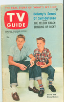 1953 TV Guide May 15 Ricky and David Nelson NY Metro edition Excellent  [Lt wear, toning along binding, ow very clean; label on reverse]