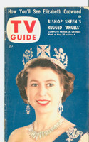 1953 TV Guide May 29 Queen Elizabeth Mid States edition Excellent - No Mailing Label  [Lt wear, toning along binding, sm paper loss on top crn, ow fine]