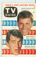 1953 TV Guide Jun 5 Dean Martin and Jerry Lewis NY Metro edition Excellent - No Mailing Label  [Lt wear, toning along binding, ow very clean]