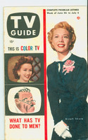 1953 TV Guide Jun 26 Dinah Shore NY Metro edition Excellent to Mint  [Very clean example; label on reverse]
