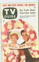 1953 TV Guide Jul 17 Lucille Ball and Desi Arnez NY Metro edition Excellent  [Lt wear, toning along binding, ow clean; label stamped on rev]