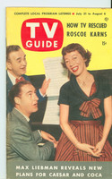 1953 TV Guide Jul 31 Sid Caesar and Imogene Coca Chicago edition Excellent to Mint - No Mailing Label  [Very clean example]