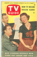 1953 TV Guide Jul 31 Sid Caesar and Imogene Coca Chicago edition Good to Very Good - No Mailing Label  [Wear, scuffing and creasing on both covers and binding; contents fine]