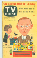 1953 TV Guide Sep 4 Wally Cox as Mr Peepers NY Metro edition Very Good to Excellent - No Mailing Label  [Lt wear and toning on both covers; contents fine]