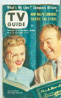 1953 TV Guide Sep 11 Joan Caulfield and Ralph Edwards Chicago edition Excellent  [Lt wear, toning along binding, ow very clean; label on reverse]