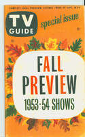1953 TV Guide Sep 18 Fall Preview 1953-54 Season NY Metro edition Excellent  [Heavy toing on reverse cover, ow clean; label on reverse]