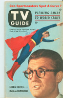 1953 TV Guide Sep 25 George Reeves as Superman Philadelphia edition Very Good to Excellent - No Mailing Label  [Lt wear and toning on cover; 1953 WRT in pen; ow very lt wear]