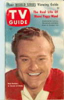 1953 TV Guide Oct 2 Red Skelton Mid States edition Very Good - No Mailing Label  [Heavy scuffing on cover, bend along binding; contents fine]