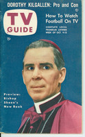 1953 TV Guide Oct 9 Bishop Sheen NY Metro edition Excellent - No Mailing Label  [Lt wear on cover, ow very clean; address stamped on reverse]