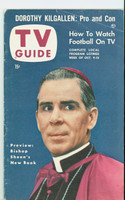 1953 TV Guide Oct 9 Bishop Sheen Detroit edition Excellent  [Wear, scuffing and creasing on cover, label on reverse]