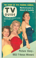 1953 TV Guide Oct 16 Beauty Contest Winners (Angie Dickinson) NY Metro edition Excellent  [Lt wear, toning along binding; label stamped, pencil WRT on rev,]